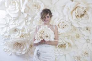 Papír virágok esküvőkre