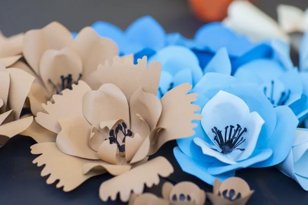 papírvirág dekorációk