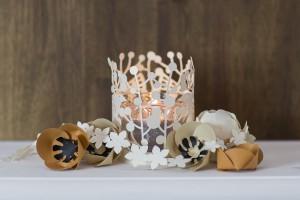 mécses dísz esküvőre